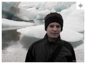 Jens vor den Eisschollen