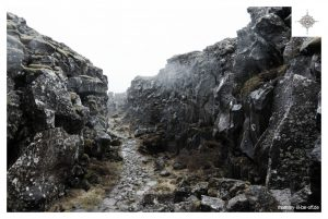Felsformationen in Thingvellir