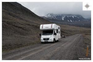 Der Camper in den Westfjorden